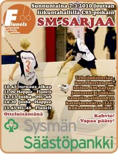 """Happeeseen siirtyvä Joel Lahti (oik. takana) oli """"mannekiinina"""" C95:n SM-sarjan Joutsan turnaksen mainoksessa vuonna 2010."""